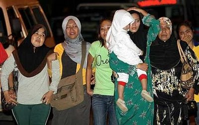Keluarga Allahyarham Achik Spin,berada di Hospital Tuanku Jaafar di Seremban
